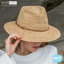 Chapeau Cloche Magdalena Paille Raphia Naturel - Rigon Headwear