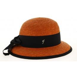 Chapeau Cloche Santornin Paille Orange- Fléchet