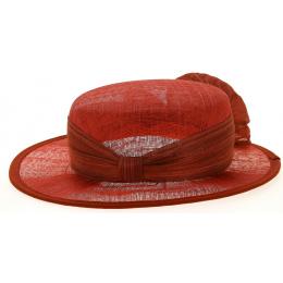 Chapeau de Cérémonie Sidonie Rouge- Traclet