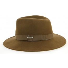 Chapeau Traveller Indiana Jones Feutre Laine Fauve - Traclet