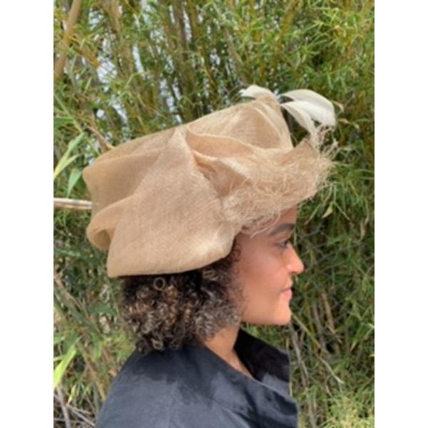 Chapeau de Cérémonie Enora Paille- Traclet