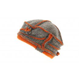 Toque Ilda Laine Marron & Orange- Traclet