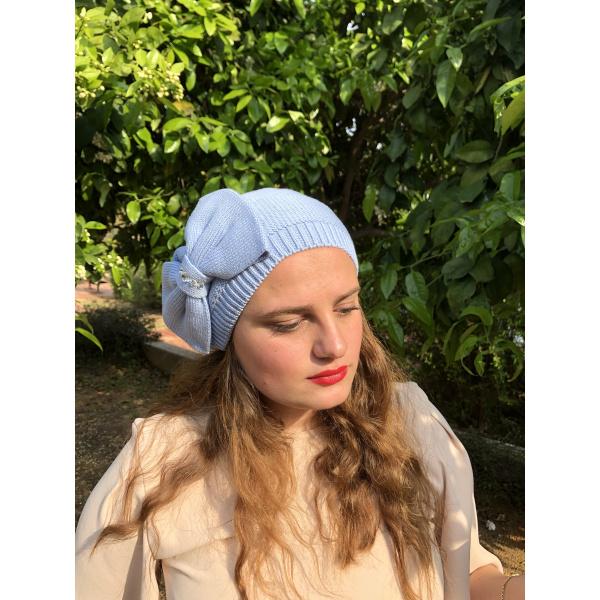 Béret été Bella Coton bleu ciel - BeBeret
