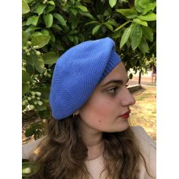 Béret Sacha Coton Bleu- BeBeret