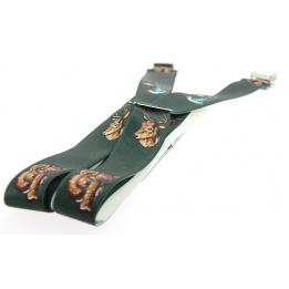 Bretelles Cerf Élaphe Vert - Traclet