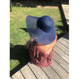 Capeline Yvoire Bleu Marine & Transparente- Traclet