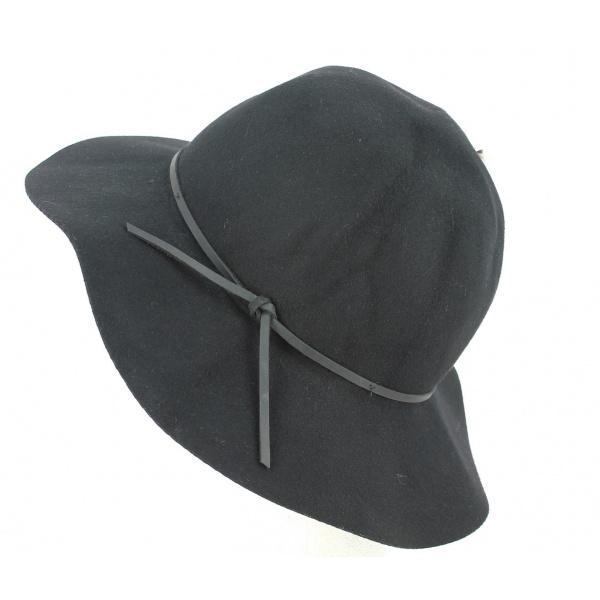 Chapeau Jethro Feutre Laine Noire - Brixton
