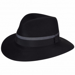 Chapeau Fedora Barkley Noir -Bailey