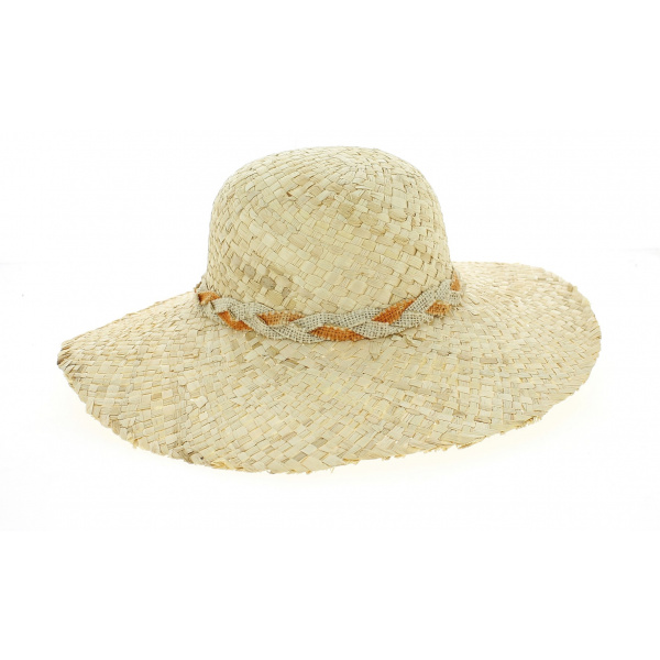 Gina Natural Straw Capeline - Traclet