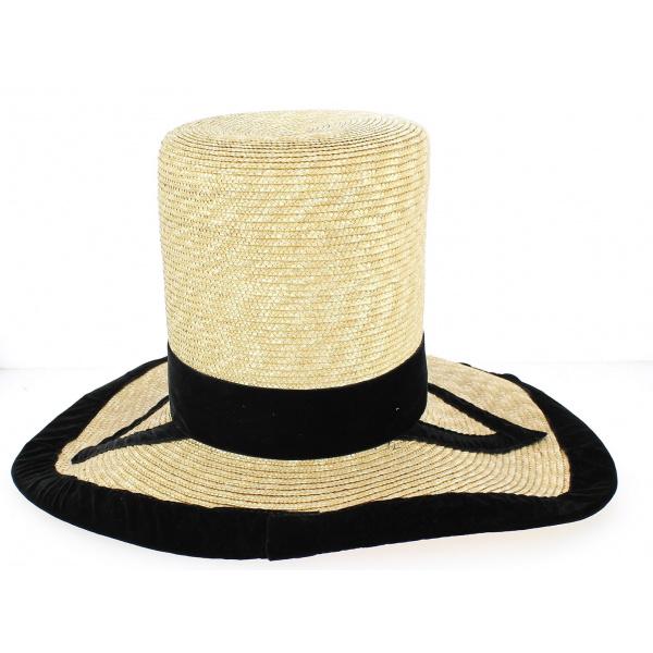 Chapeau Haut de Forme Folklorique Paille- Traclet