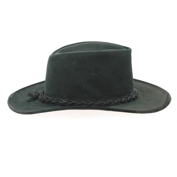 Swagman Traveller Hat Black Leather - Bc Hats
