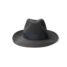 Umberto Felt Hat Grey Canvas - Borsalino
