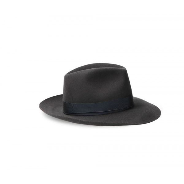 Umberto Felt Hat Grey Canvas - Borsalino