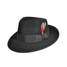 Fedora LiteFelt® Hat Black - Bailey