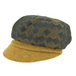 Casquette Gavroche Diamant Laine Moutarde- Traclet