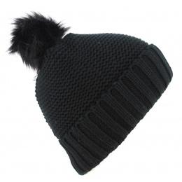 Bonnet à Pompon Danica Noir- Traclet