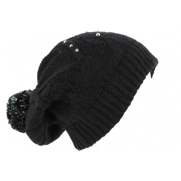 Bonnet à Pompon Long Birama Noir- Traclet