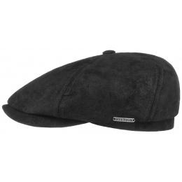 casquette cuir forme 6 cotes stetson coloris noir