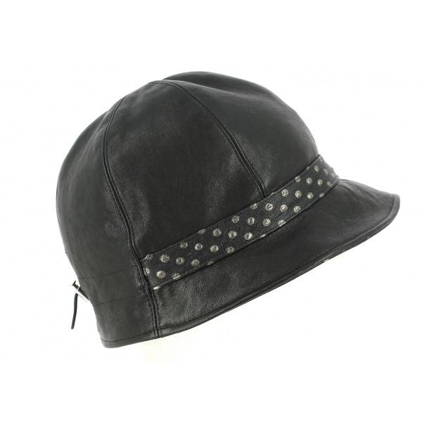 Chapeau Cloche Inforchia Cuir Noir- Traclet
