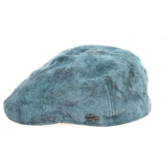 Blue Leather Brentford Duckbill Cap - Göttmann