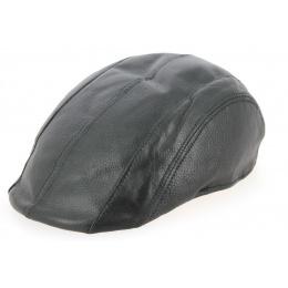 Casquette Plate Cuir Noir- Crambes