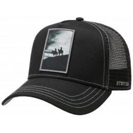 Casquette Trucker Silhouette Noire- Stetson