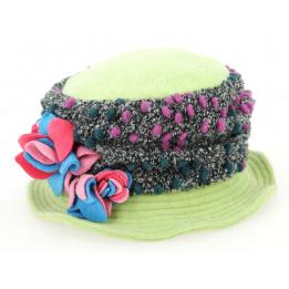 Chapeau Cloche Femme Polaire Verte- Traclet