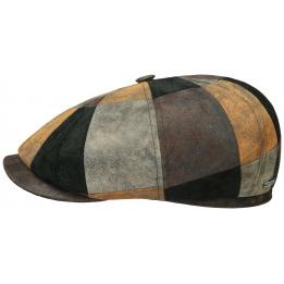 Casquette Hatteras cuir Patchwork - Stetson