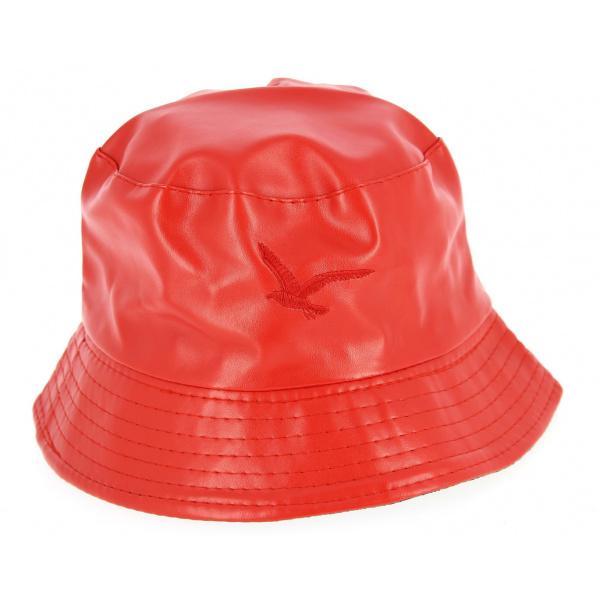 Chapeau Bob Pluie Mouette Rouge- Traclet