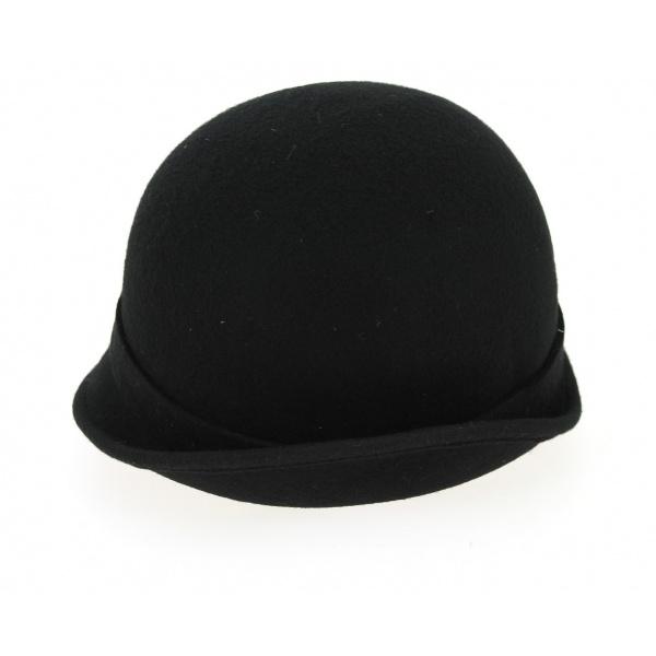 Chapeau Cloche Uopini Feutre Laine Noir- Traclet