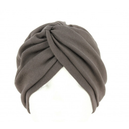Turban chimiotherapie marron