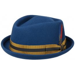 Chapeau PorkPie Diamond Feutre Laine Bleu- Stetson