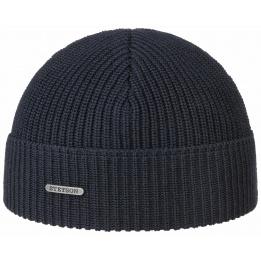 Bonnet Coton à Revers Bleu Marine- Stetson