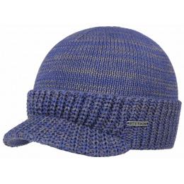 Bonnet Casquette Coton Bleu- Stetson