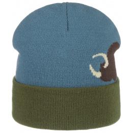 Bonnet à Revers Buffalo Bleu- Stetson