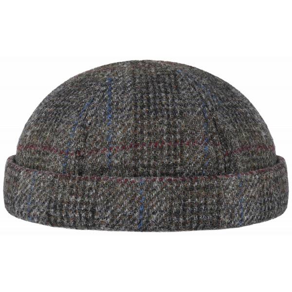 Bonnet Docker Harris Tweed Gris- Stetson