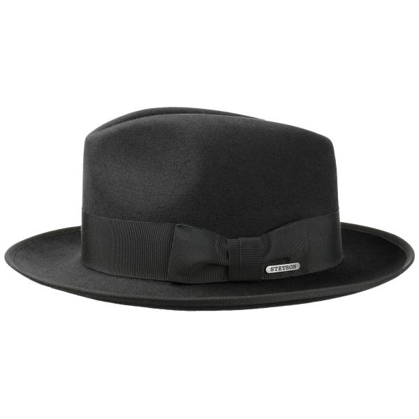 Chapeau Fedora Bogart Feutre Poil Noir- Stetson