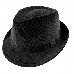 Chapeau classique James trilby velours noir