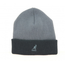 Bonnet Acrylique Pull-On Noir & Gris- Kangol