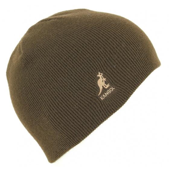 Short Acrylic Pull-On Cuffless Beanie Brown- Kangol