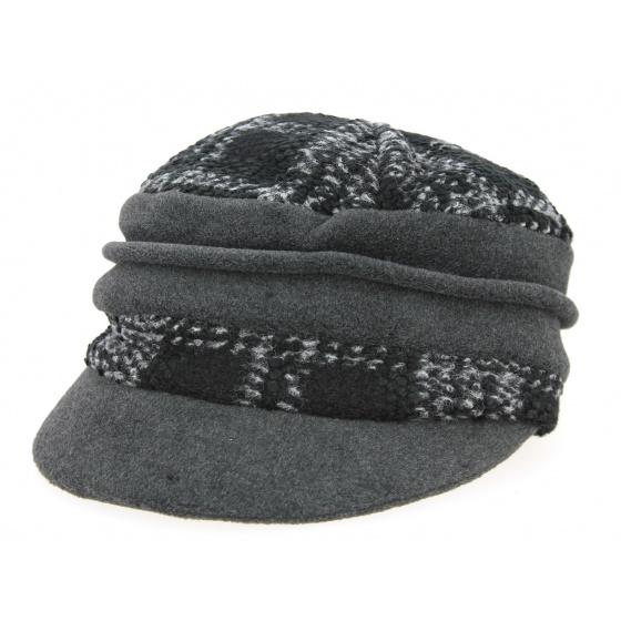 Gavroche Tartan Cap Black & Grey- Traclet