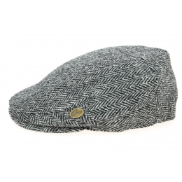 Casquette Plate Harris Tweed York Grise- Olney