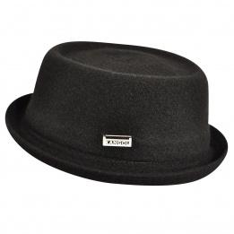 Chapeau Porkpie Wool Mowbray Noir- Kangol
