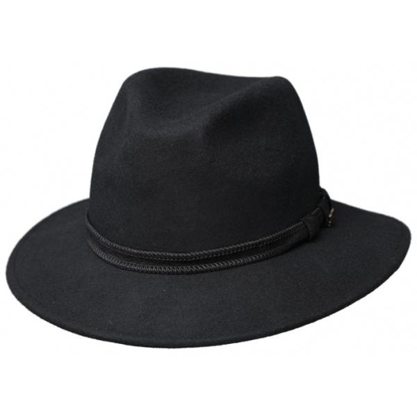 Chapeau Fedora Ambierle Feutre Laine Noir- Traclet