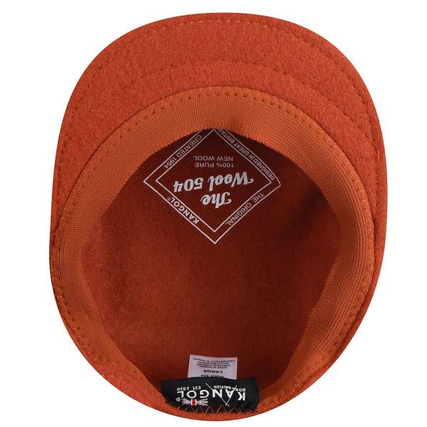 Casquette Plate 504 Laine Orange- Kangol