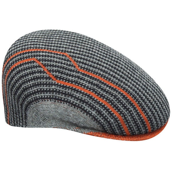 Casquette Plate Swithboard 504 Orange & Grise- Kangol
