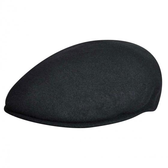 Casquette Plate 504 Laine Noire- Kangol