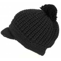 Valestra Wool & Alpaca Cap Black-Traclet
