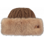 Brown Faux Fur Cable Toque Hat - Barts