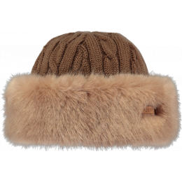 Brown Faux Fur Cable Toque Hat - Barts